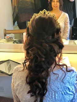 Beautiful full bridal hairstyle