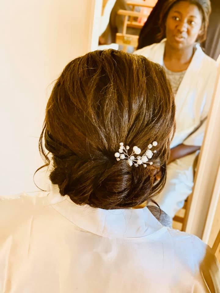 Beautiful Bride updo at the Great Lodge,