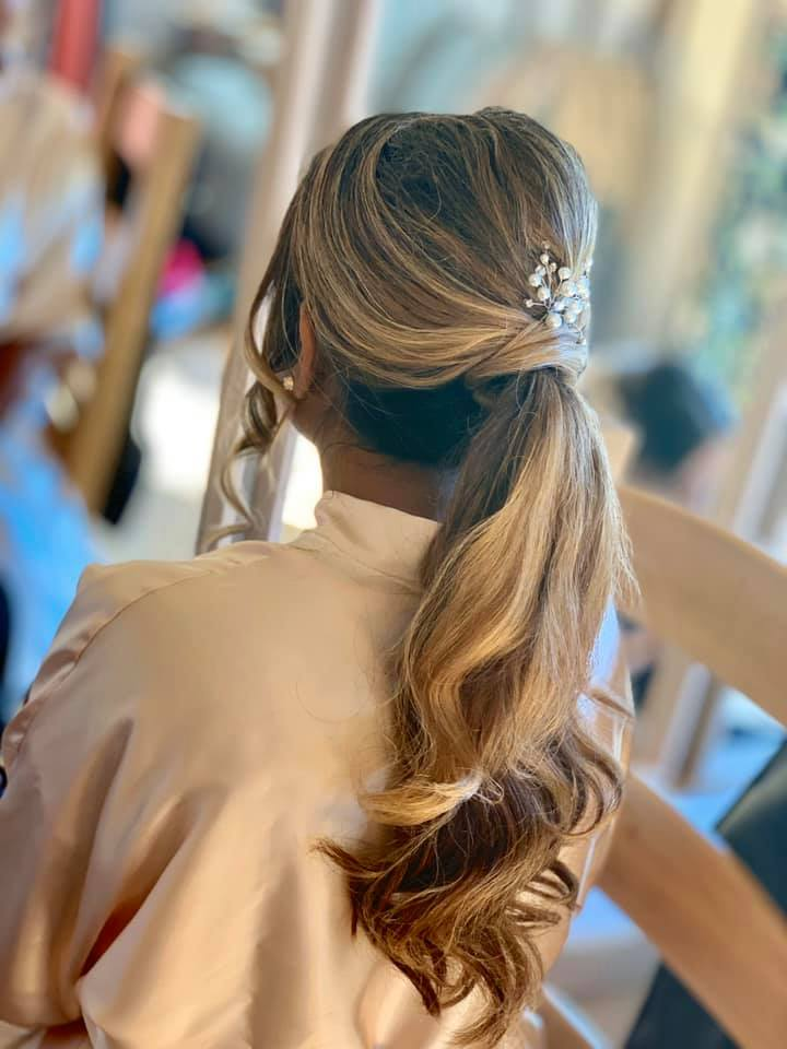 Beautiful Bridal ponytail at The Great L