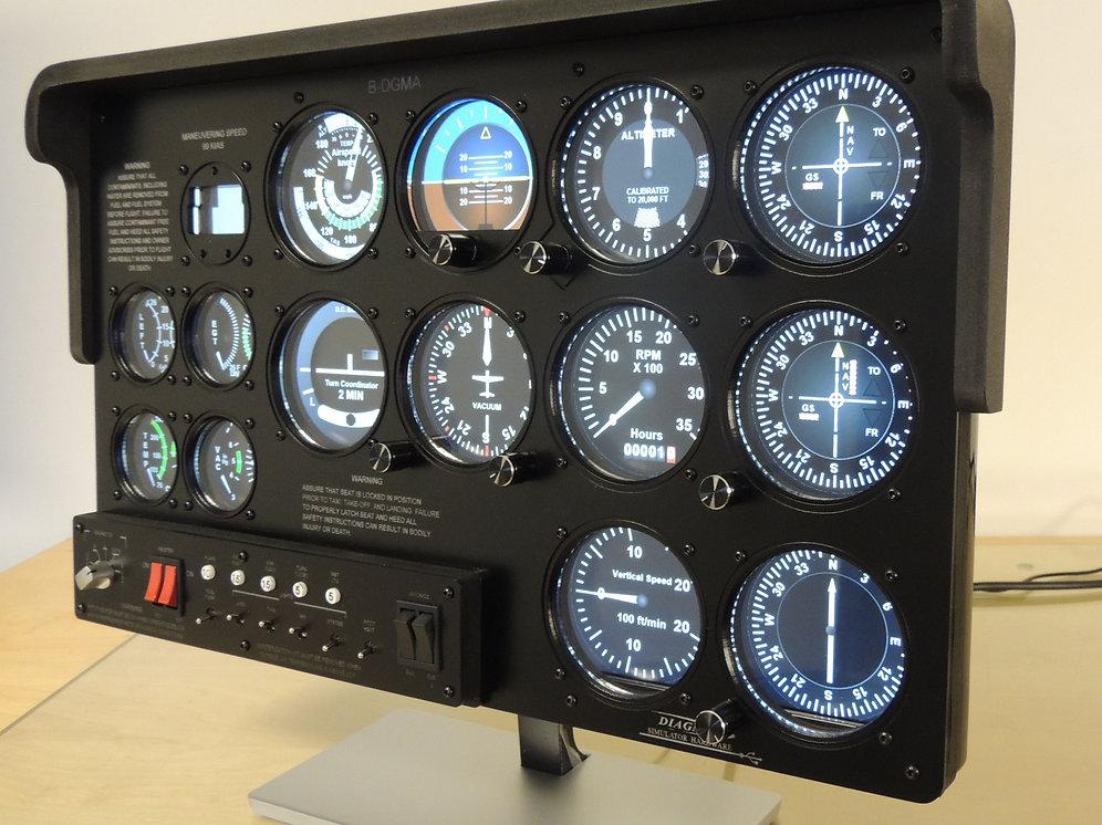 Flight Simulator Front Panel Plus DPPL-1804 | Diagma FlightSims