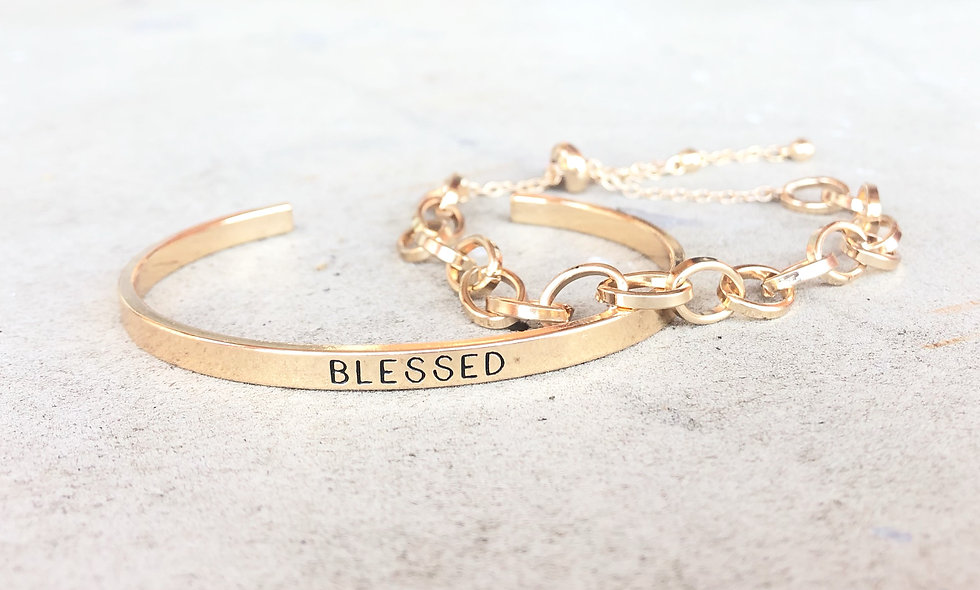Blessed Bracelet with Chain Link