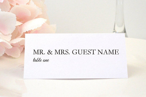 Simply Modern Place Card