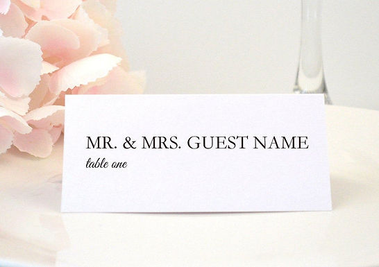 SIMPLY MODERN Place Card (Set of 20)