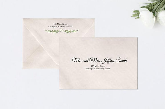 LAUREL LEAVES Addressed Envelopes Style #104 (Set of 20)