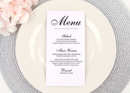 DOTS Menus  (Set of 20)