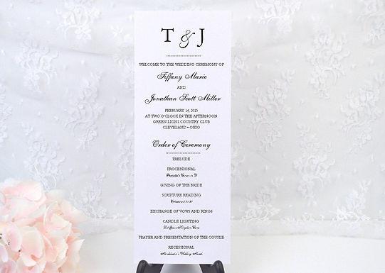 DOTS Ceremony Wedding Programs (Set of 20)
