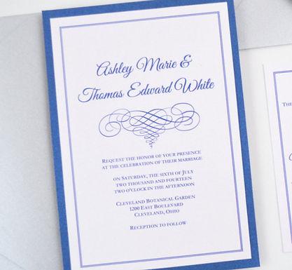 ELEGANT SCROLL Layered Wedding Invitation & RSVP Card (Sample)