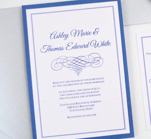 ELEGANT SCROLL Layered Invitation | Sample Kit