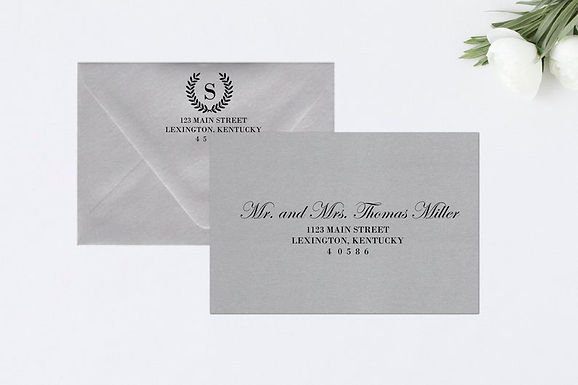 LAUREL WREATH Addressed Envelopes Style #106 (Set of 20)