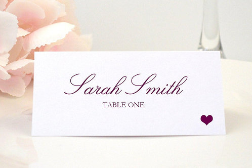Simple Heart Place Card