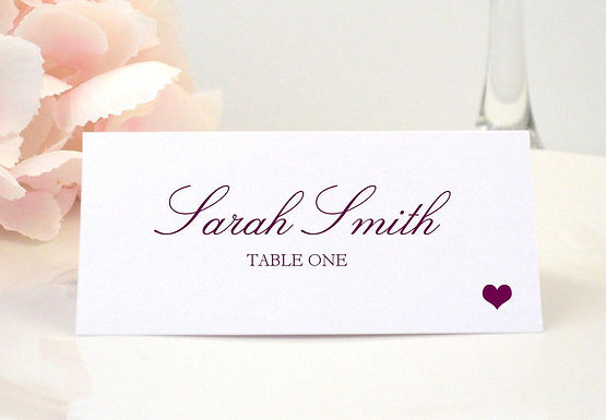 SIMPLE HEART Place Card (Set of 20)
