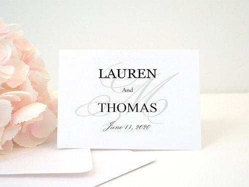 SIMPLE ELEGANCE Thank You Cards & Envelopes (Set of 10)