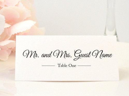 Elegant Script Place Card