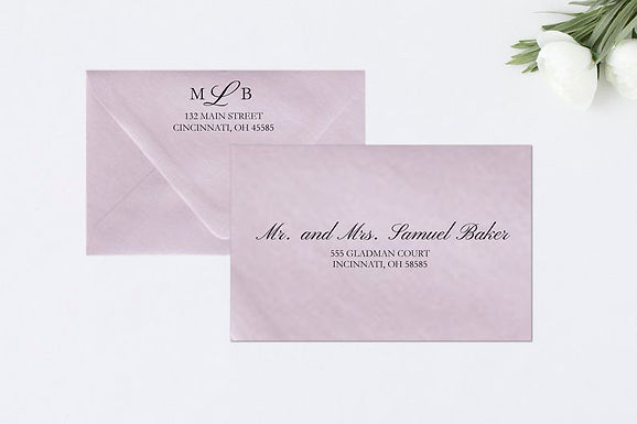 MELISSA Addressed Envelopes Style #114 (Set of 20)