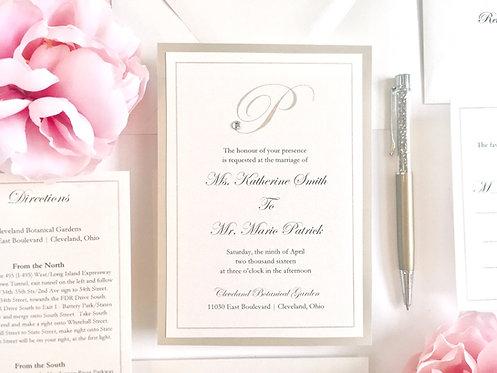 KATHERINE Layered Invitation | Sample Kit