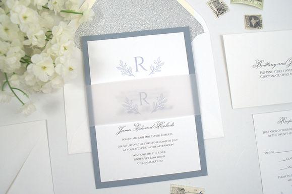 BRITTANY Layered Wedding Invitation & RSVP Card (Sample)