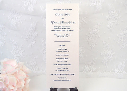 ELEGANT CALLIGRAPHY Ceremony Wedding Programs (Set of 20)