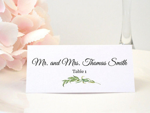 LAUREL LEAVES Place Card (Set of 20)