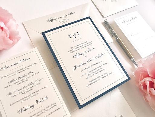 DOTS Layered Wedding Invitation & RSVP Card (Sample)