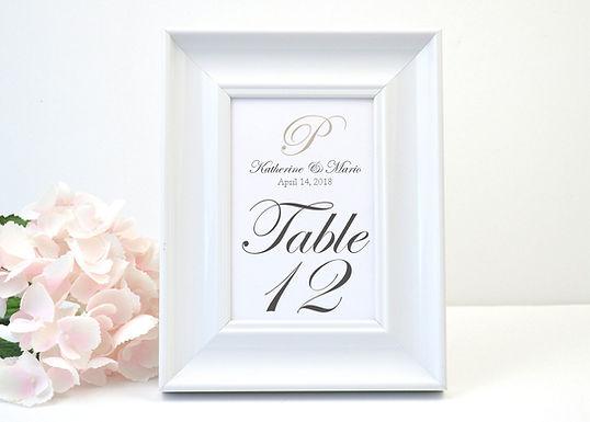 KATHERINE Table Numbers