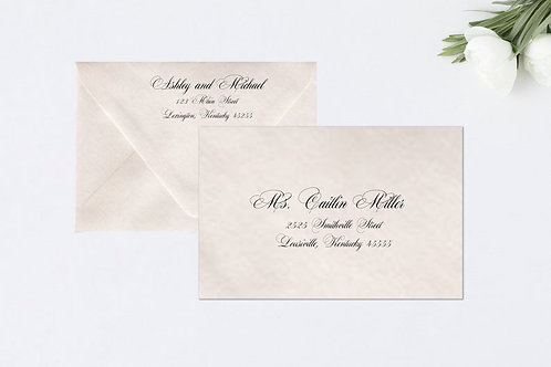 CLASSIC SCRIPT A7 Envelope Addressing (Style #107) | Set of 10
