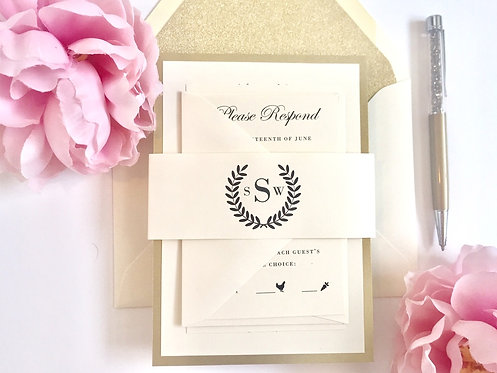 LAUREL WREATH Layered Invitation | Sample Kit