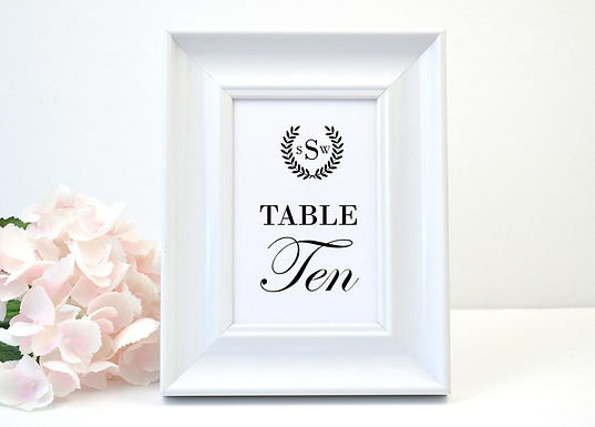 LAUREL WREATH Table Numbers