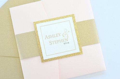 SIMPLY ROMANTIC Pocketfold Invitation | Sample Kit