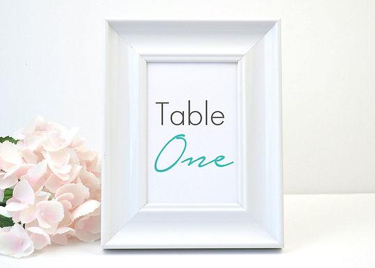 MODERN SCRIPT Table Numbers