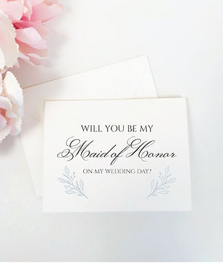 BRITTANY | Will You Be My Maid of Honor Folded Card & Envelope