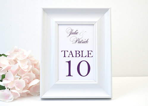 Formal Ampersand Table Numbers