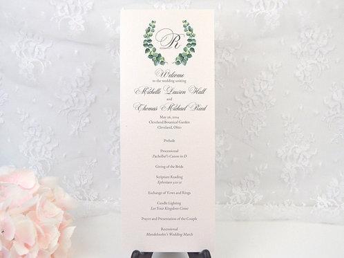 Elegant Eucalyptus Ceremony Program