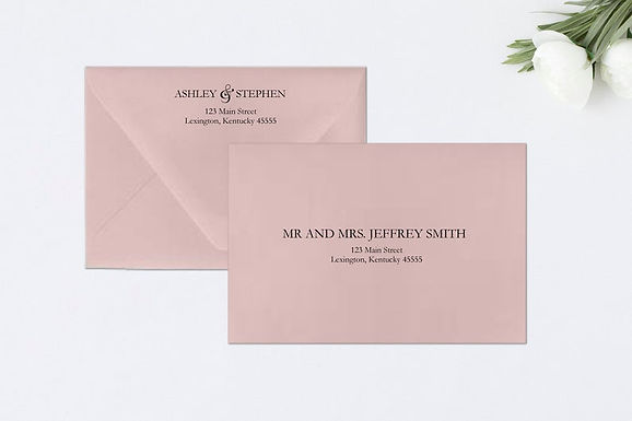 SIMPLY ROMANTIC Addressed Envelopes Style #100 (Set of 20)
