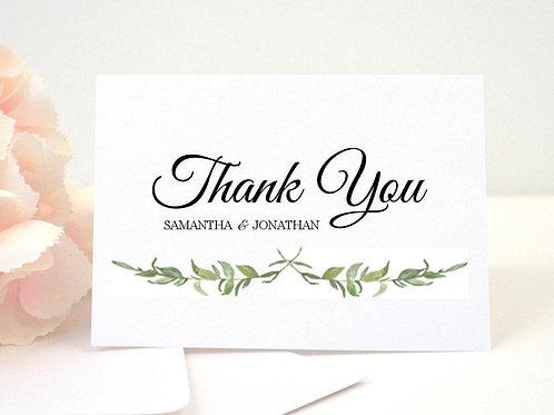 LAUREL LEAVES Thank You Cards & Envelopes (Set of 10)