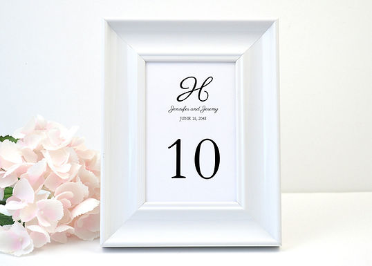 MODERN SQUARE Table Numbers