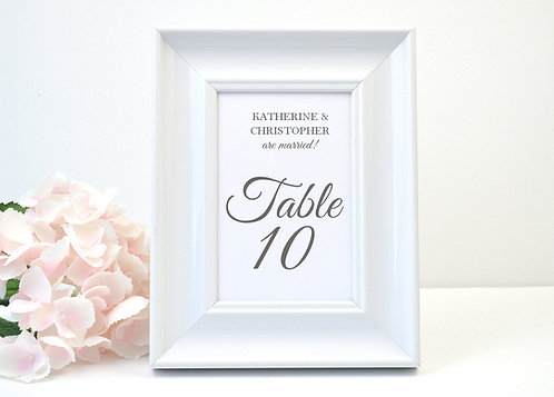 Simply Modern Table Numbers