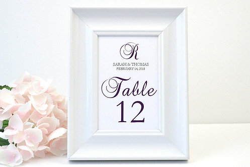 Donna Table Numbers