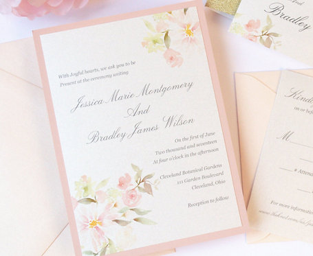 BOTANICAL GARDEN Layered Invitation | Sample Kit