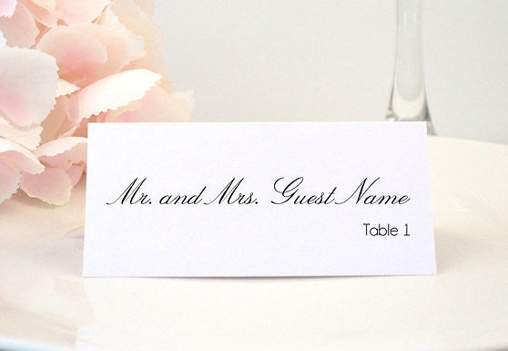 SIMPLY PRETTY Place Card (Set of 20)