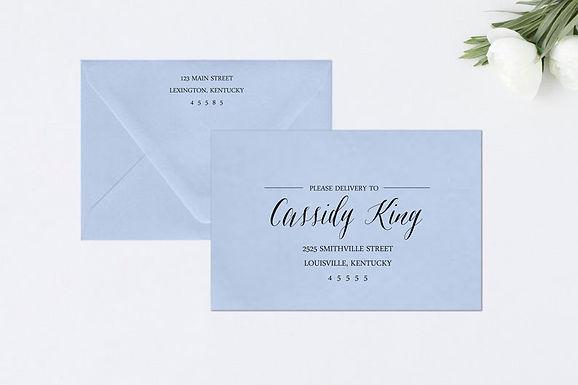 CHIC Addressed Envelopes Style #111 (Set of 20)