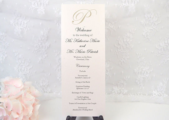 KATHERINE Ceremony Wedding Programs (Set of 20)