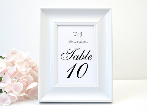 Dots Table Numbers