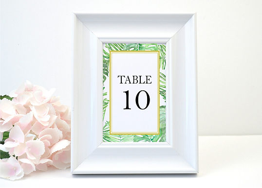 TROPICAL LEAVES Table Numbers