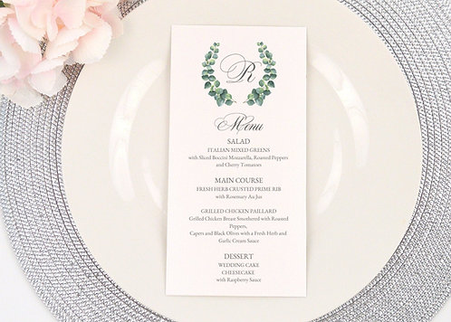 Eucalyptus Wreath Menu
