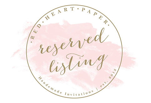 Reserved Listing for MELANIE