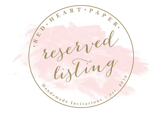 Reserved Listing for DEIDRE