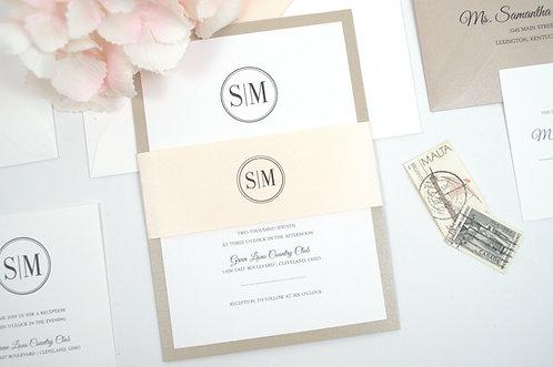 SAMANTHA Flat Invitation | Sample Kit