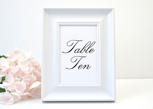 SIMPLY PRETTY Table Numbers