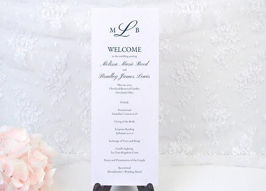 MELISSA Ceremony Wedding Programs (Set of 20)