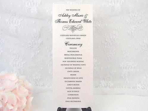 Elegant Scroll Ceremony Program
